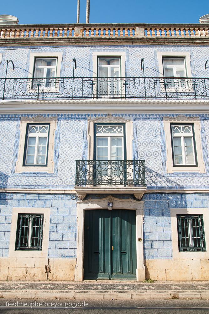 Lissabon Hausfassade kulinarische Tipps