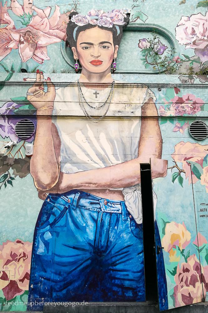 Frida Kahlo Mural Buenos Aires Street-Art