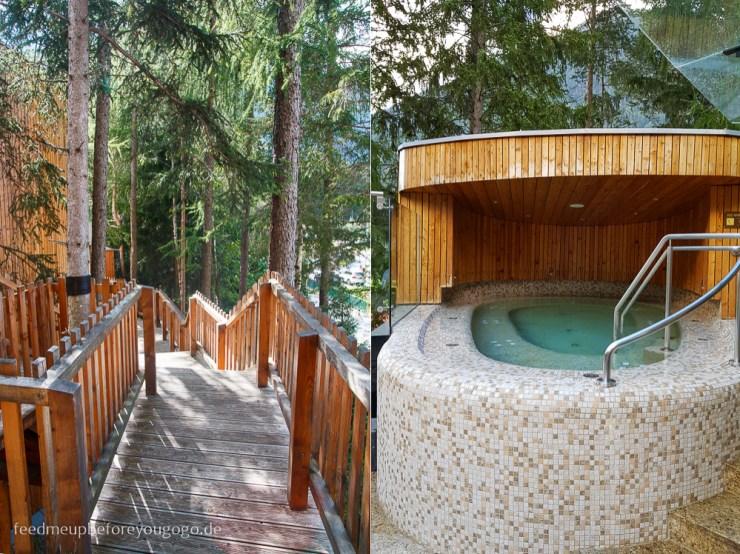Whirlpool im Naturhotel Waldklause im Ötztal, Tirol