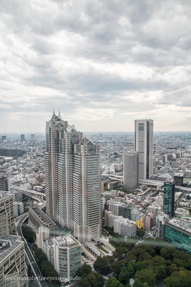 Blick auf Shinjuku Tokio - Basics für die Reiseplanung. Tipps für Reise nach Japan