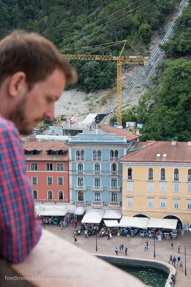 Reisetipps für den Gardasee: Blick vom Torre Apponale in Riva del Garda