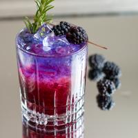 Bramble Cocktail mit Brombeere und Gin