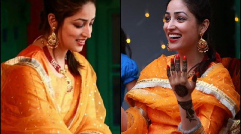 IN PICS | Yami Gautam Looks Resplendent In Yellow Suit For Her Mehndi Ceremony