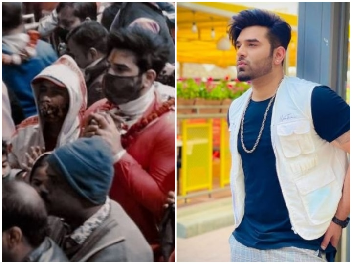 Bigg Boss Fame Paras Chhabra Gets Mobbed By Fans At Banke Bihari Temple In Vrindavan