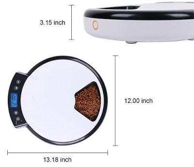 jempet automatic pet feeder dimension image