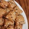 whole wheat almond flour cheese crackers