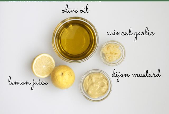 ingredients for creamy vegan caesar salad dressing recipe