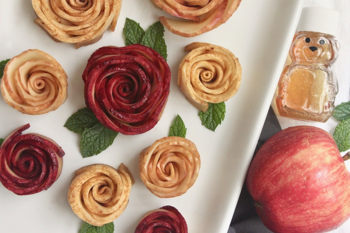 Baked Honey Apple Roses