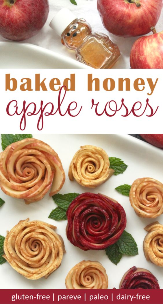 baked apple roses are a beautiful rosh hashanah dessert