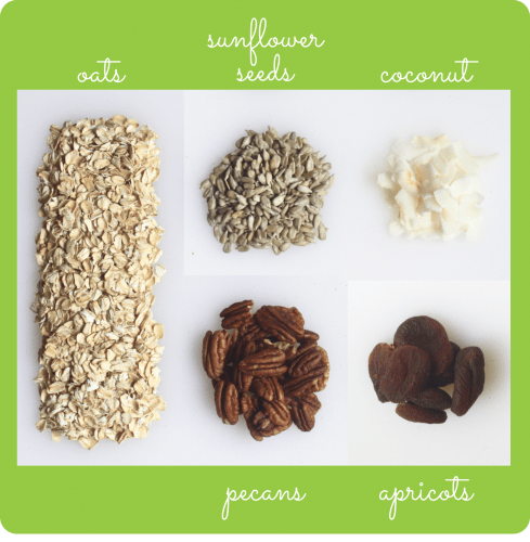healthier pecan coconut granola with dried apricots gluten free vegan
