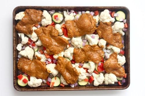 ginger turmeric sheet pan ready to roast