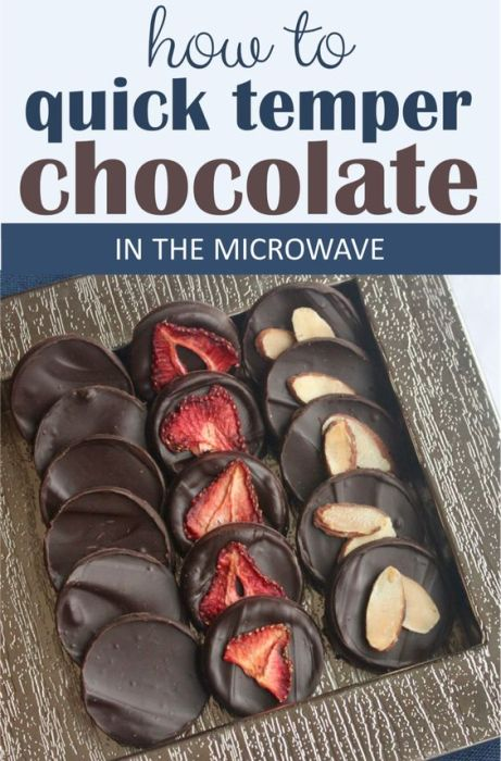how to quick temper chocolate in the microwave