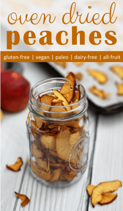 oven dried peach chips recipe