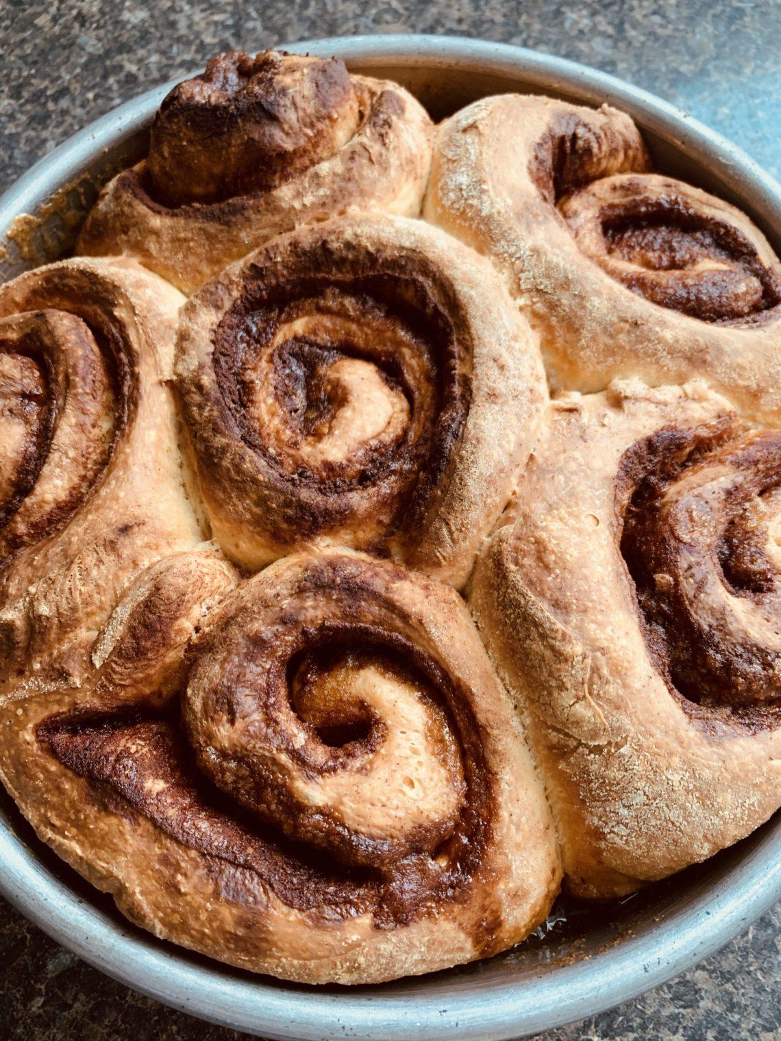 Cinnamon Rolls with Food Processor Bread Dough