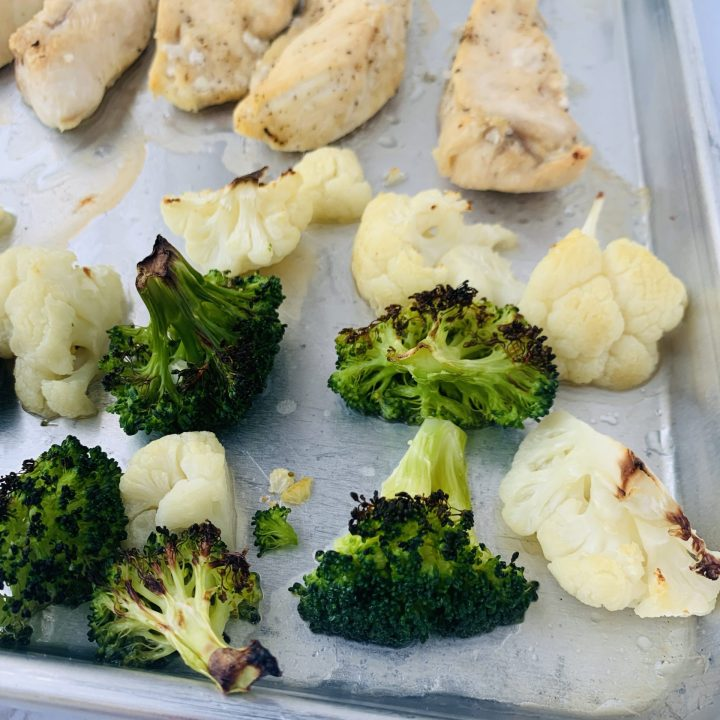 Sheet Pan Chicken with Broccoli and Cauliflower