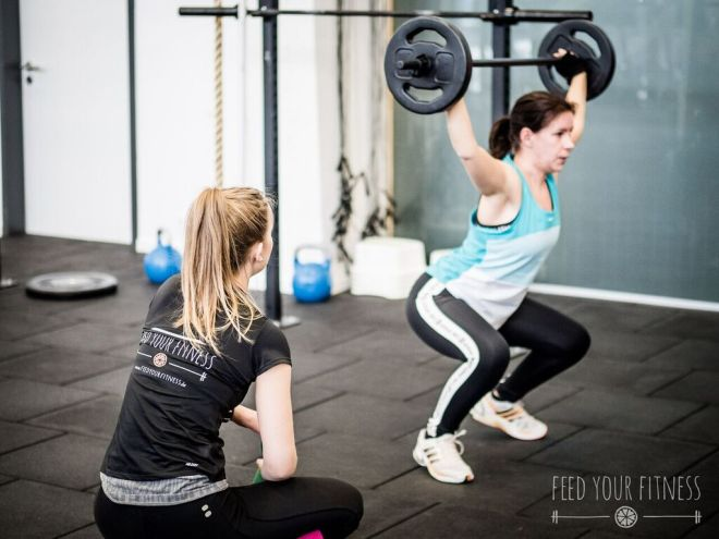 Valentinstag CrossFit Coaching Overhead Squat