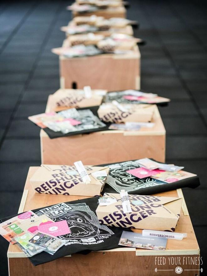 CrossFit Bloggertreffen Goodie Bags von Reishunger und Lieblingstee