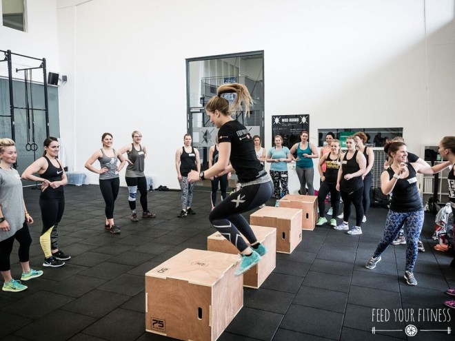 CrossFit Bloggertreffen von FEED YOUR FITNESS Box Jumps