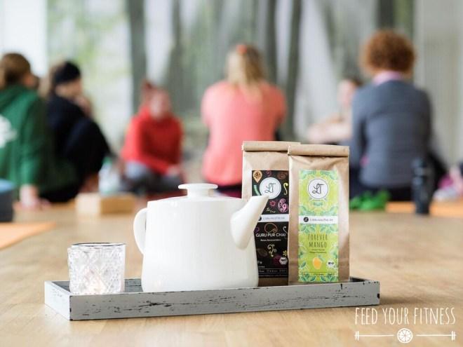 Instagram Bloggertreffen von FEED YOUR FITNESS Yoga mit Tee von Lieblingstee