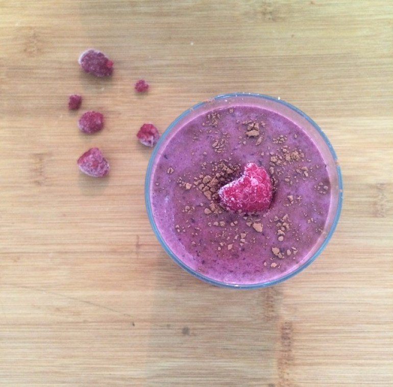 My black forest raw cacao smoothie