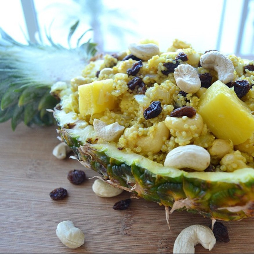 My vegan pineapple & cashew quinoa curry