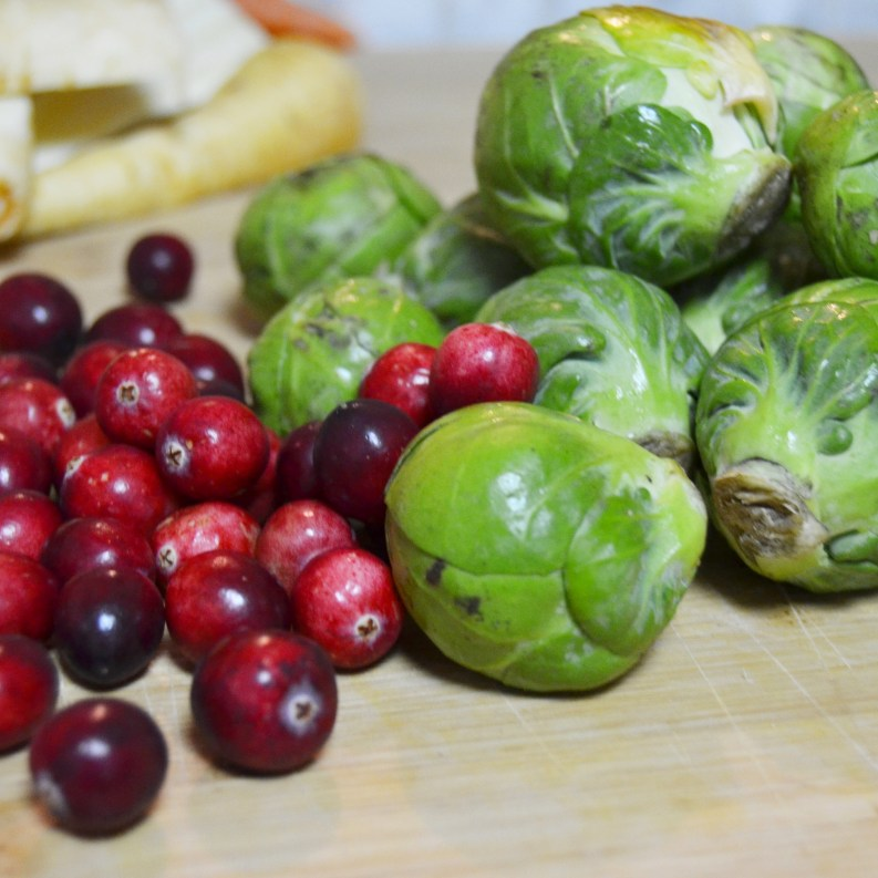 my cranberries and sprouts