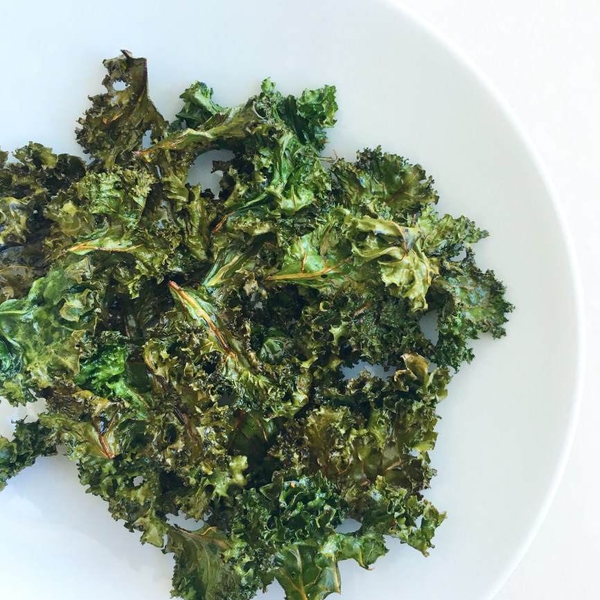 my coconut oil kale chips