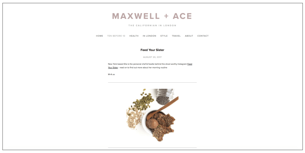 maxwell and ace feed your sister