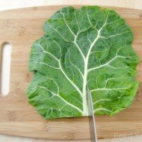 How to De-Stem Collard Greens for Wraps