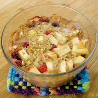 Apple Pie Cranberry Baked Oatmeal