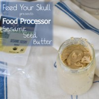 How to Make Food Processor Sesame Seed Butter (Tahini)