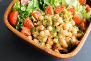 Spicy Chickpea Salad | Feed Your Skull