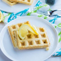 Lemon Poppy Seed Waffles