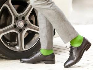 Шкарпетки з єгипетської бавовни (трав'яний зелений), колекція luxury