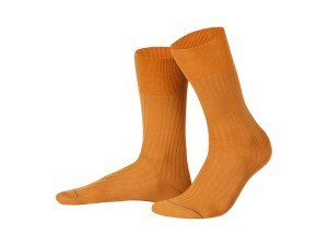 Rapport socks, Egyptian cotton (terracotta), Luxury collection
