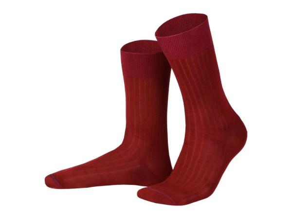 Rapport socks, Egyptian cotton (burgundy), Luxury collection