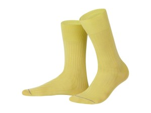 Rapport socks, Egyptian cotton (yellow), Luxury collection