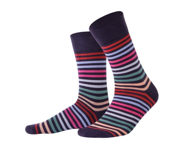 """Socks """"Stripes with burgundy toe"""", Creative collection"""