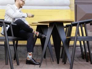 "Socks ""Graphic loft"", Creative collection"