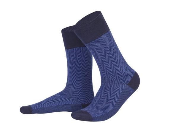 Jacquard dark blue + violet socks, Creative collection