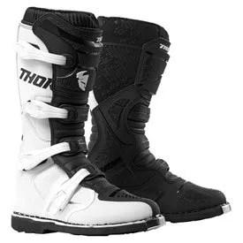 Thor MX Blitz XP Boots White Black