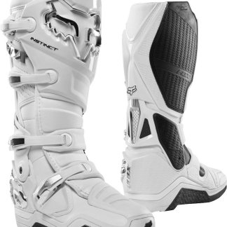 Fox Racing Instinct White/Silver Boots Adults 2020