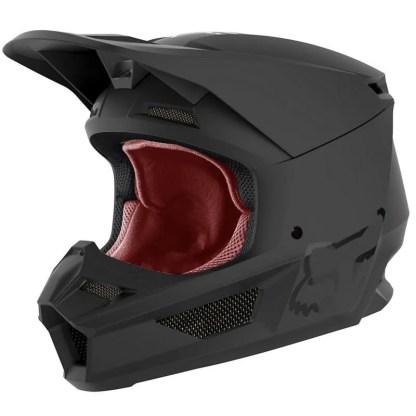 Fox V1 Przm Helmet Camo Matte Black Adult Front
