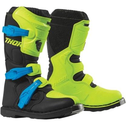 Thor Blitz XP Fluorescence Yellow/Black Motocross Boots Youth