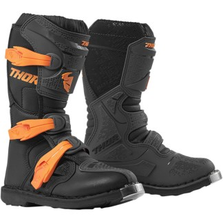 Thor Blitz XP Charcoal/Orange Motocross Boots Youth