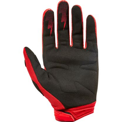 Fox Dirtpaw Race Youth Gloves Red Palm