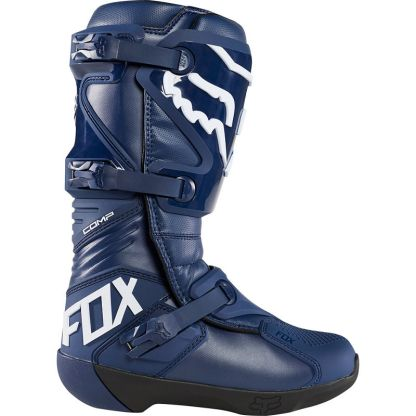 Fox Racing Comp Adult Motocross Boots Navy Outerside