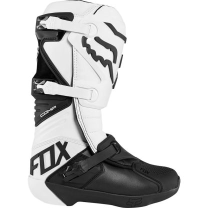 Fox Racing Comp Adult Motocross Boots White Outerside