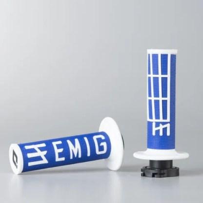 ODI EMIG Racing Lock-on Grip Set Blue/White