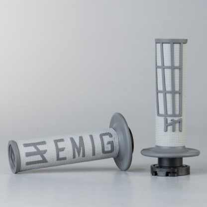 ODI EMIG Racing Lock-on Grip Set Grey/Graphite